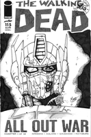 Walking Dead - Zombie Optimus Prime Sketch Cover by SeanRM