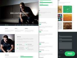 Free Resume PSD Theme - Focal by bestpsdfreebies