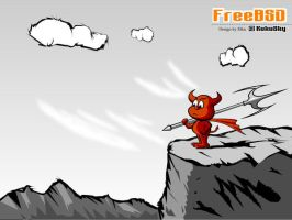 freebsd wallpaper 3 by rikulu