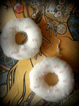 Donut earrings by InkKiller