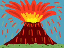 Volcanic Eruption by DragonQuestWes