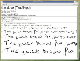 the dave - font by chod