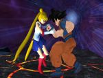 Goku and Sailormoon: I am here to help by kongzillarex619