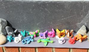 Polymer Clay Dragons! by RaLaJessR