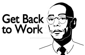 Gustavo Fring - back to work(Breaking Bad) Stencil by cytherina