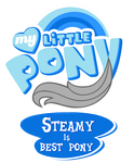 Commission MLP OC Logo - Steamy is Best Pony by MLPBlueRay