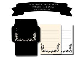 Set of 4 Envelopes and 8 Paper Letters | For Dolls by UrbanFairytales