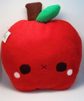Shy Apple Pillow by quacked