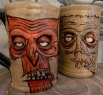 Illustrated and Sculpted Mugs by thebigduluth