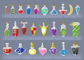 Potions by Mad-Hatman