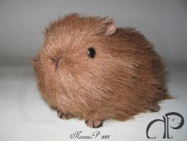 Little Brown Guinea Pig Plush by Morumoto