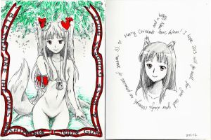 Spice and Wolf Holo Christmas Card by LiJianliang