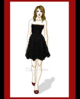 dress black with red by Tania-S