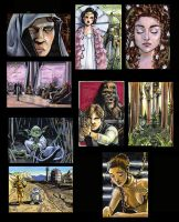 Star Wars sketch cards by RenaeDeLiz