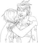 Raegan and Dresden WIP Lineart by konfusion-with-a-k