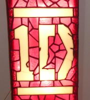 Close up of the Symbol -  One Direction Wall Light by mclanesmemories