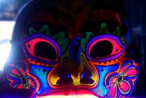Mask in bluelight by FractalAnimal