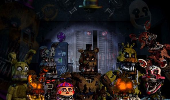 The True Evil Of Freddy's (Wallpaper) (WITH DLC) by BonnieThe