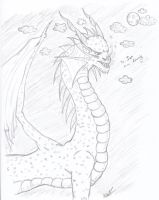 My first Dragon commish by 19DarkArtist94