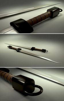One hand sword Blender 3D by ephebox
