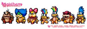 7 Koopalings by hotpinkflamingo