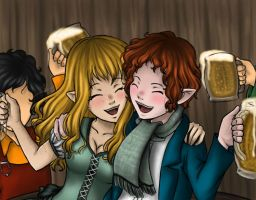 Drunk Robbits by Princess-Hazel