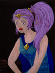 The girl with purple hair by evangeline40003