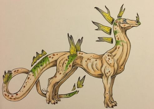 Floating Spike Dragon Adoptable by Fwa-tair