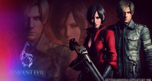 Ada Wong and Leon Kennedy -  Aeon  - RE6 Wallp by BetthinaRedfield