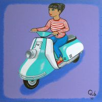 Scooter Girl by gibsart