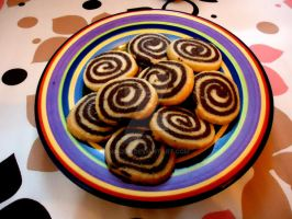 Chocolate pinwheels by ninoPk
