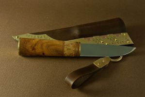 Scandinavian dark ages knife by Haraldr32