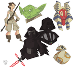 Star Wars Sketches by GeekyAnimator