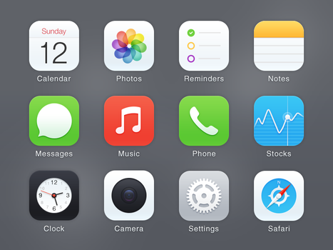 iOS7 Icons redesign by BboyJ