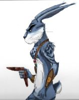 E. Aster Bunnymund by WulfFather