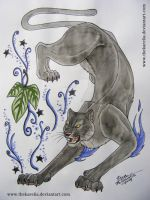 Panther tattoo design by TheKarelia