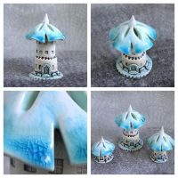 Turquois house of tiny fairies by vavaleff