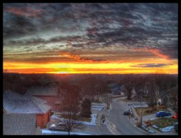 Rooftop January HDR by FramedByNature