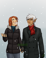 Commission - AU Hawke and Fenris by JadeRaven93