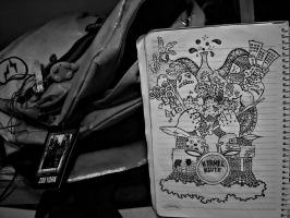 A Bag and a Doodle by Kalayde