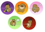 Buttons-Bear Set by Lechau