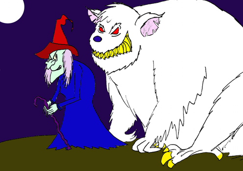 Return of the Witch and her Rat Monster by ScroogeMacDuck