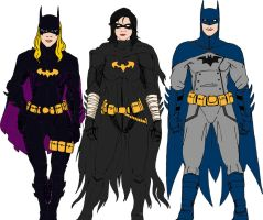 Batfamily Designs with color by cpuhuman