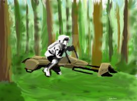 Speederbike Speedpainting by LauraInglis