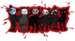 Hollywood undead cats by imlickingmywounds