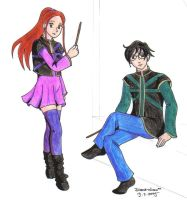 Harry and Ginny by Mikha