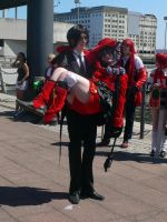 Ciel refuses to dance with Sebastian MCM May '12 by KaniKaniza