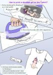 How to print a shrunken girl on the T-shirt by hidesys