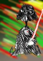 psychedelic Darth Vader by xflone
