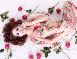 Rose Body Paint by OnCallArtistry